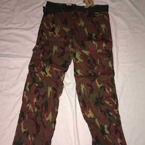 Cargo Camo Pants W/ Belt NWT Relaxed Fit 38x32